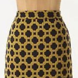 Anthropologie Quilted Pencil Mini Skirt Size 0